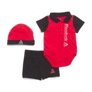 Brand New REEBOK Newborn Boys 3pc Polo Bodysuit👶